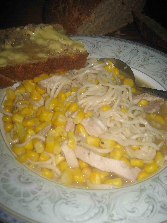 chicken/corn/bread
